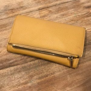 Free with purchase Mustard wallet